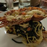 Chintara; spaghetti seafood with lobster
