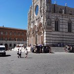 First view of Siena Cathedral as you enter the square. Amazing!