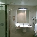 shower in the large standard room