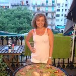 Free paella made by Marie (staff) for all hostel visitors.