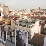vista de la ciudad de madrid desde la terraza