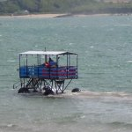 If the tide comes in while on Burgh Island this is how you get back.