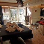 Doppelzimmer mit Cheminée und grossem ausfahrbarem Whirlpool