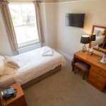 Newly refurbished single room with view over The Hoe, Invicta Hotel