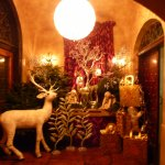 More reindeer and ornate Christmas decorations