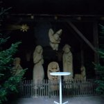 The nativity scene in a small cavern-like alcove spotted on our way out