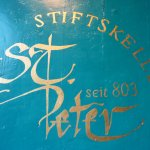 Signage for St Peter Stiftskeller - year 803AD