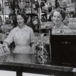 Sisters Rita and Ina Watt working in Giulianotti's in the 1950's.