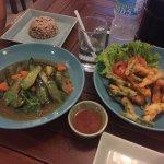 Vegan Pad Thai, Veggie Tempura and Eggplant Miso Stir Fry 😛😋