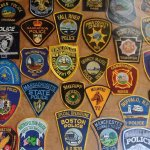 Law Enforcement Patches in The Bar on Inishmore