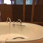 Big bathtub in the room