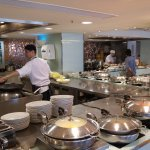 Regular breakfast buffet at Bistro - hot dishes sections, both western and Chinese.