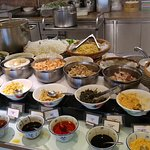 Regular breakfast buffet at Bistro: multiple-items noodles in soup, make-to-order.