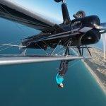 During the acrobatics