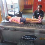 Lying on a bed of nails