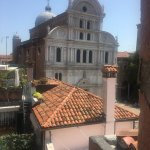 View of San Zaccaria church from terrace