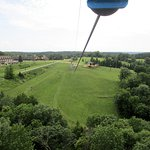 View from the top of the zipline