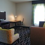 Newly remodeled king suite living area