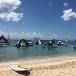 Paradise Beach inflatables in ocean