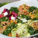 Seasonal salads are a must.