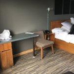 Vinyl floor, meager furniture