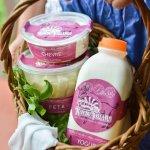 Delicious artisan cheese and yogurt