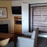 Murphy bed and front room area / 2 BR unit