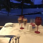 Evening meal in beach reef restuarant