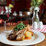 Roast Westcountry Lamb, crispy roast potatoes and lashings of gravy