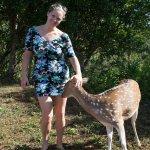 me and a sweet deer :)