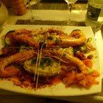 gambas grillés et risotto