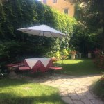 The garden at Hotel Palazzo Abadessa