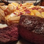Medium prepared Sirloin w/ Bacon Cheese Fries