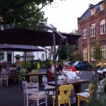 Summer evening with wine and traditional German dishes