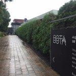 Entrance to BotaBota, making a grey day bright again