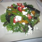 Summer Salad (mixed greens, mandarin oranges, strawberries, asparagus & toast & goat cheese)