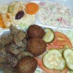 Falafel and gyros platter