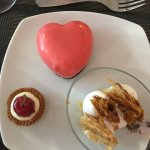 Desserts at hotel restaurant