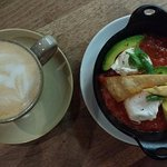 Coffee and Huevos rancheros
