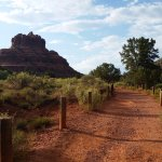 View of Bell Rock trail, a few minutes' drive between hotel and downtown Sedona.
