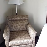 Comfy chair in room