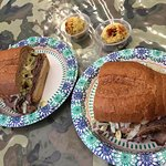 Excellent Roast Beef Sandwich (Spit) and deviled eggs