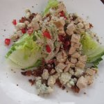 Lettuce Wedge salad ($8.95) + added Grilled Chicken ($4.95)