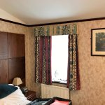 """""""modern delux room curtains and head board!"""""""