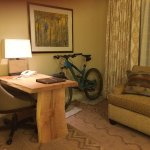Cool Desk, Comfortable Sofa, Bike Ready to Rock AZ Trail