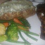 Ribeye steak and baked potato