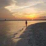 Sunset walk by the beach