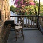 Sitting area outside on the veranda near the kitchenette