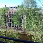 View from our room of the Herengracht