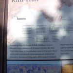 Signage about the Rim Trail.